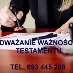 Podważanie testamentu z powodu braku świadomości oraz braku swobody wyrażenia woli